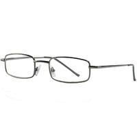Очки корригирующие для чтения +3,5 темно-серые металлические полукруглые 1 шт.