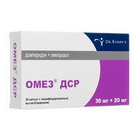 Омез ДСР капсулы с модифиц. высвобож. 30 мг+20 мг 30 шт.