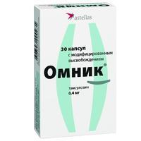 Омник капсулы с модиф. высв. 0.4 мг, 30 шт.