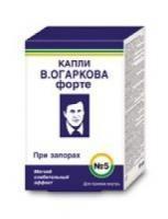 Капли в.огаркова №5 форте (при запорах) фл. 50мл (бад)