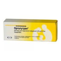Оргалутран раствор д/подкож введен. 0.25 мг/0,5 мл 0,5 мл шприцы 5 шт.