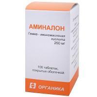 Аминалон таблетки 250 мг, 100 шт.