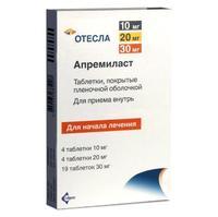 Отесла таблетки покрыт.плен.об. 10 мг 4 шт. + 20 мг 4 шт. + (30 мг 5 шт. + 30 мг 14 шт. ) 27 шт.