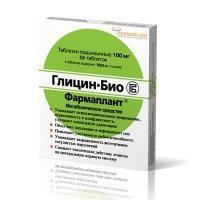 Глицин-био фармаплант таблетки 100 мг, 50 шт.