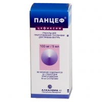 Панцеф суспензия 100 мг/5 мл, 60 мл/32 г