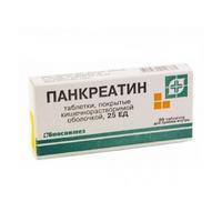 Панкреатин таблетки 250 мг, 20 шт.