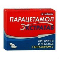 Парацетамол Экстратаб 500 мг+150 мг таблетки 10 шт.