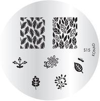 Печатная форма (диск) для маникюра Konad image plate S15 упак.