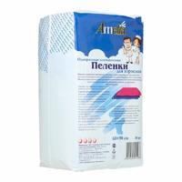Пеленки Амелия д/взрослых 60х90 см, 10 шт.