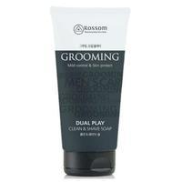 Пена Mukunghwa 2в1 Мужская очищающая для умывания и бритья Dual play Clean & Shave soap 150мл
