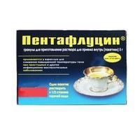 Пентафлуцин гран. д/приг. р-ра 5г пакет №5