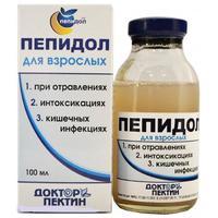 Пепидол при алкогольной интоксикации, флакон 5%, 100 мл