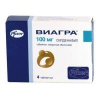 Виагра таблетки 100 мг, 4 шт.