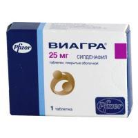 Виагра таблетки 25 мг, 1 шт.