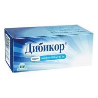 Дибикор  таблетки 500 мг, 60 шт.