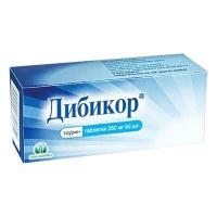 Дибикор таблетки 250 мг, 60 шт.