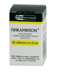 Пикамилон таблетки 20 мг, 30 шт.