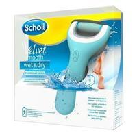 ПилкаScholl Velvet Smooth Wet&Dry электрическая роликоваяводонепроницемая для стоп 1 шт.