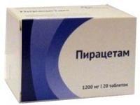 Пирацетам таблетки покрыт.плен.об. 1200 мг 20 шт. упак.