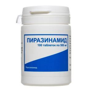 Пиразинамид таблетки 500 мг, 100 шт.