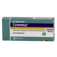 Сумамед таблетки 500 мг, 3 шт.