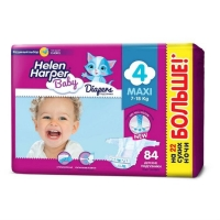 Подгузники Helen Harper Baby Maxi 7-18кг 84 шт.