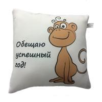 Подушка Trelax сувенирная арт.П106 Обезьянка с логотипом НИКАМЕД