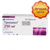 Трихопол таблетки 250 мг, 20 шт.