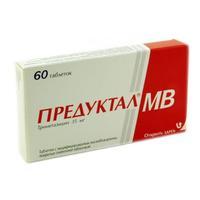 Предуктал мв таблетки 35 мг, 60 шт.