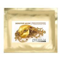 Premium маска коллагеновая Золотой шелк с биозолотом для лица 1 шт.