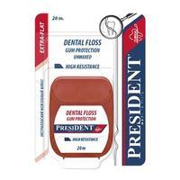 PresiDent Зубная нить флосс экстраплоский 20 м