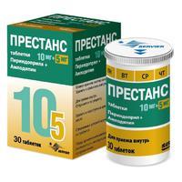 Престанс таблетки 10 мг+5 мг, 30 шт.