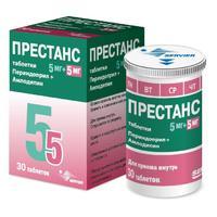 Престанс таблетки 5 мг+5 мг, 30 шт.
