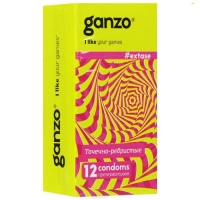 Презервативы Ganzo Extase с точками ребристые 12 шт.
