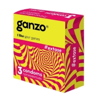 Презервативы Ganzo Extase с точками ребристые 3 шт.