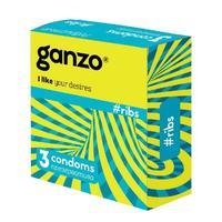 Презервативы Ganzo Ribs ребристые 3 шт.