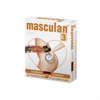 Презервативы Masculan Ultra продлевающие с колечками, пупырышками и анестетиком 3 шт.