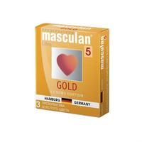 Презервативы Masculan Ultra утонченный латекс золотого цвета 3 шт.