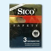 Презервативы Sico Safety классические, 3 шт.