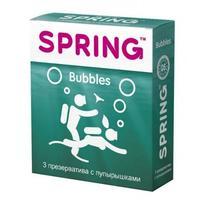 Презервативы Spring Bubbles с пупырышками 3 шт.