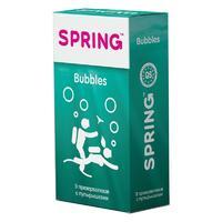 Презервативы Spring Bubbles с пупырышками 9 шт.