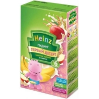 Пудинг Heinz молочный быстрорастворимый Пудинг бананчик яблочко в сливках с 6 мес. 200г упак.