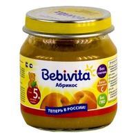 Пюре Бэбивита (Bebivita) абрикос с витаминами с 5 мес. 100г упак.