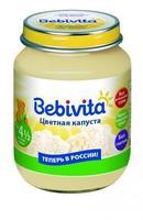 Пюре Бэбивита (Bebivita) цветная капуста 4 5 мес. 100г упак.