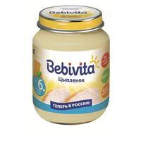 Пюре Бэбивита (Bebivita) цыпленок 6 мес. 100г упак.