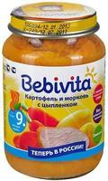 Пюре Бэбивита (Bebivita) картофель и морковь с цыпленком 9 мес. 190г упак.