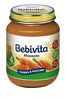 Пюре Бэбивита (Bebivita) морковь 4 мес. 100г упак.