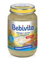 Пюре Бэбивита (Bebivita) овощи с рисом и говядиной 8 мес. 190г упак.