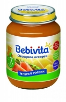 Пюре Бэбивита (Bebivita) овощное ассорти 7 мес. 100г упак.