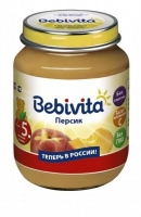 Пюре Бэбивита (Bebivita) персик с витаминами с 5 мес. 100г упак.